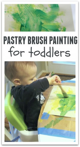 Pastry Brush Painting For Toddlers