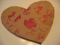 valentine apple print heart
