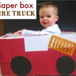 Diaper Box Fire Truck