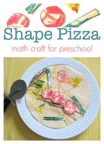 shape pizza craft math craft