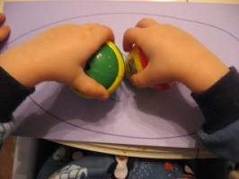Rubber Duckie Stamping – Toddler Art Project