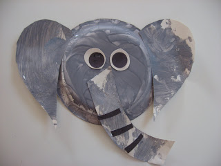 Paper plate elephant craft no time for flash cards