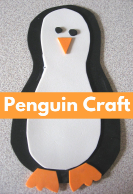 Foam Penguin Craft For Kids