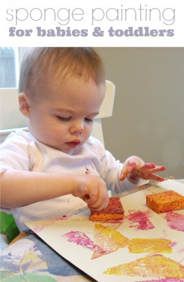 Sponge Painting For Toddlers