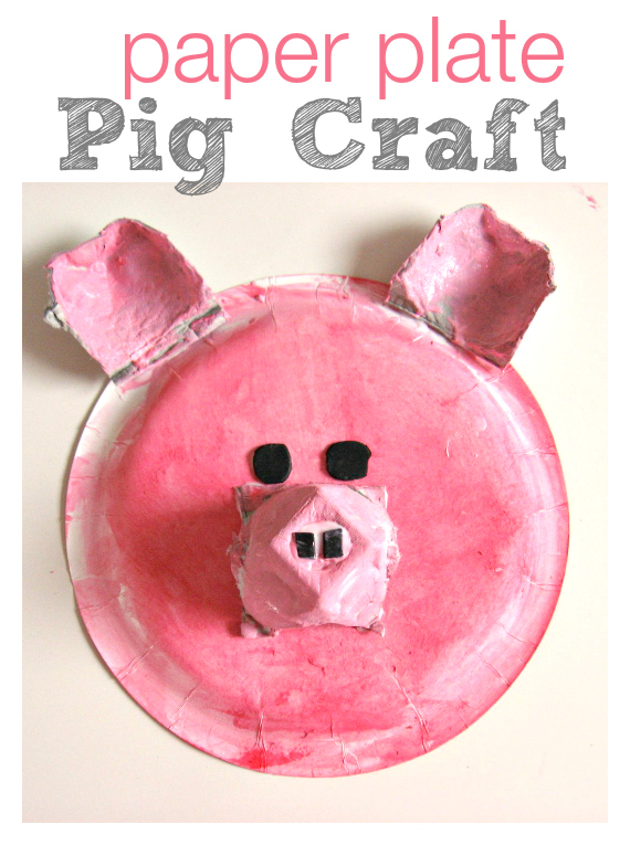& Paper Plate Pig Craft - No Time For Flash Cards
