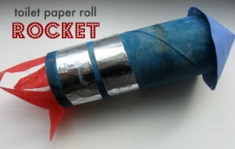 Toilet Paper Roll Rocket