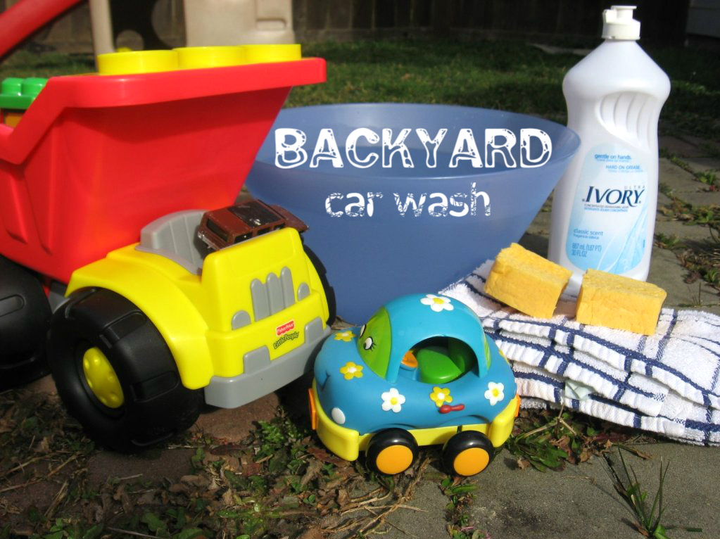 Backyard Toy Car Wash