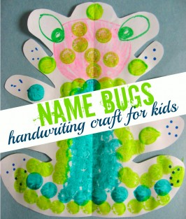 Name Bugs – Cursive Handwriting Craft
