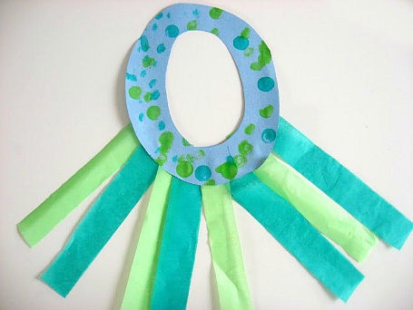 octopus letter of the week craft for kids