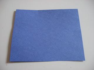 blue construction paper