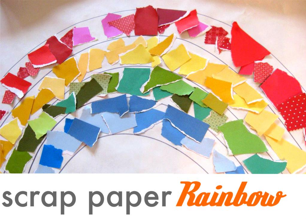 Rainy Day Rainbow Recycled Art