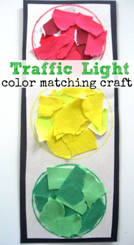 Traffic Light Color Matching Activity