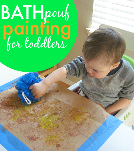 infant and toddler painting ideas