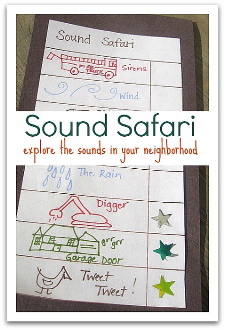 five senses activity sound