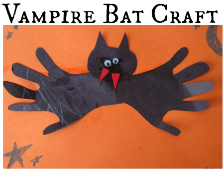 Easy Handprint Bat Craft For Kids