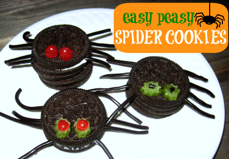 easy halloween cookies easy spider cookies - Halloween Spider Craft Ideas