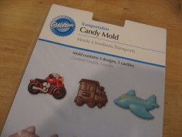 Recycled Crayons with Vehicle Themed Candy Molds