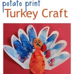 Potato Print Turkey Craft For Kids