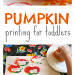 Pumpkin Printing for Toddlers & Preschoolers