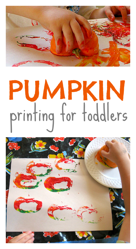 pumpkin printing for toddlers