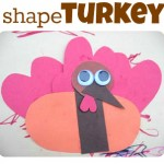 Shape Turkey Craft For Kids