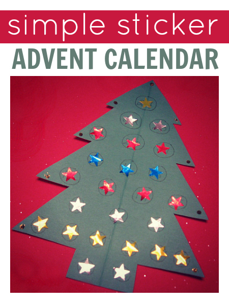 Preschool Xmas Calendar Ideas : Sticker advent calendar no time for flash cards