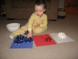 Gift Bow Christmas Tree Craft