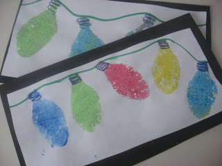 Sponge painted Christmas lights