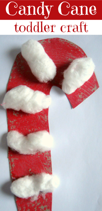Candy Cane Craft For Toddlers