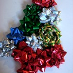 Gift Bow Christmas Tree Craft