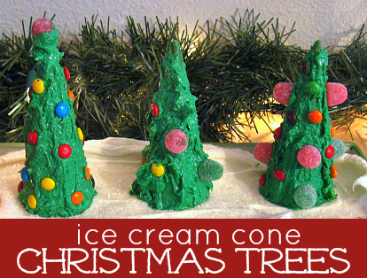 ice cream cone christmas trees ginger