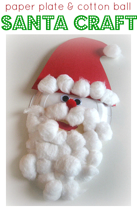 paper plate santa craft  sc 1 st  No Time For Flash Cards & Paper Plate Santa Craft For Kids - No Time For Flash Cards