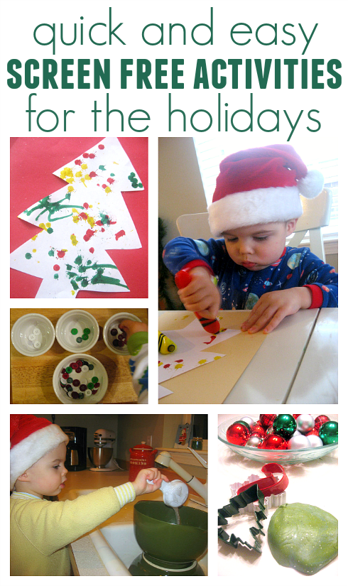 screen free holiday activities