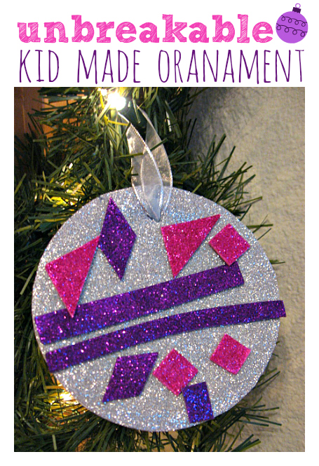 Easy Unbreakable Ornament Craft For Kids  No Time For Flash Cards