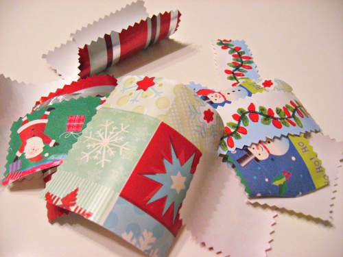wrapping paper stocking craft