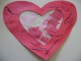 Toddler Valentine's Day Craft – Heart Suncatcher
