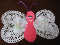 doilie butterfly craft