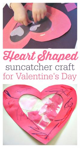 Toddler Valentine's Day Craft – Heart Suncatcher
