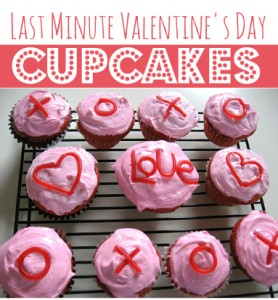 last minute valentine's day cupcakes