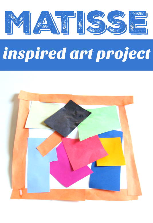 Matisse art project for preschool and kindergarten great art docent project
