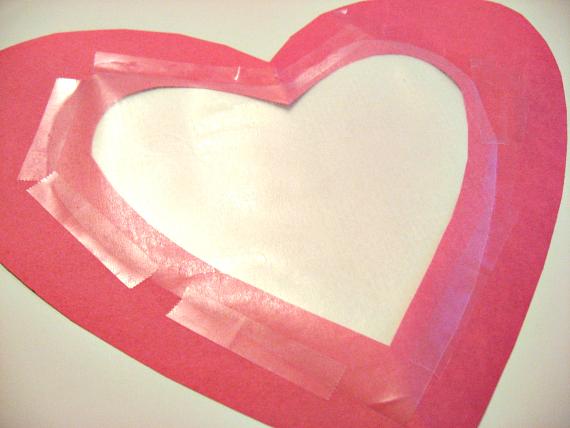 sun catcher heart contact paper middle