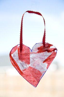 Be Still My Heart! Heart Suncatcher Craft