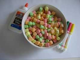 Marshmallow Rainbow Craft For Kids