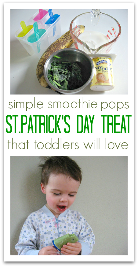 St.Patrick's Day Pops for toddlers