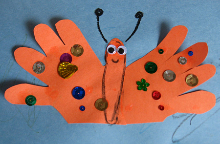Handprint Butterfly Craft For Kids