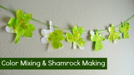 Color Mixing Shamrock Garland