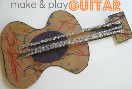 Music Man Guitar Craft For Kids No Time For Flash Cards