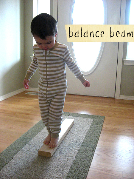 homemade balance beam