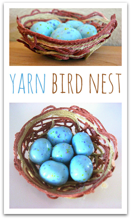 yarn bird nest craft no time for flash cards