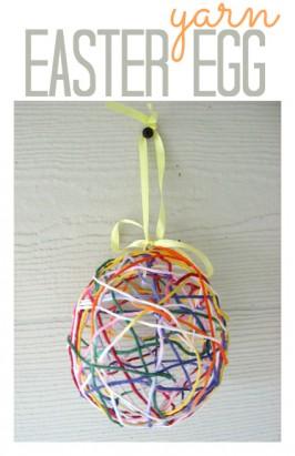 Yarn Easter Egg Craft